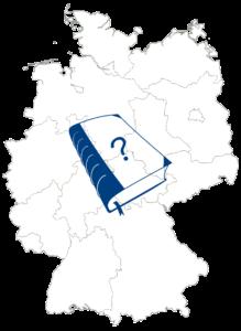 Buchgeschenk Deutschlandkarte
